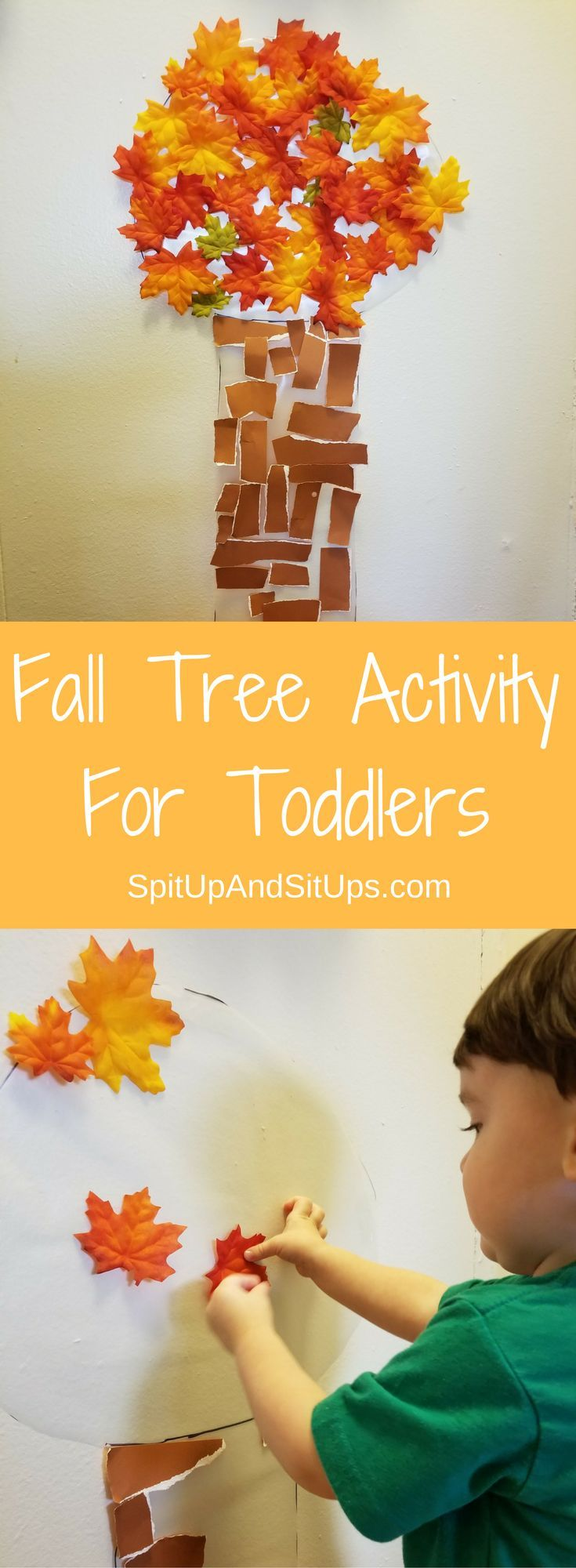 Fall Tree Activity For Toddlers | Spit Up And Sit Ups  fall tree activity for toddlers, fun for toddlers, indoor activity for toddlers, toddler crafts, fall craft, fall crafts for kids, toddler fall crafts, fall tree craft, fall tree diy, fun for kids, activities for toddlers in fall, fall activities for kids