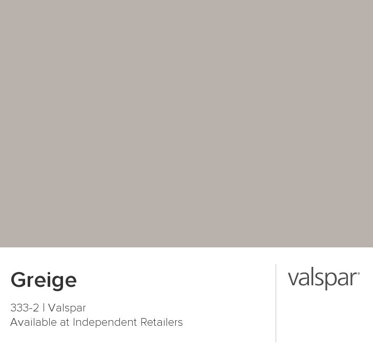 Greige from valspar this is our next paint color for the for Grey beige paint color