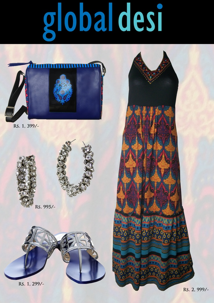 """""""Hi girls, its time to party this season in style. Check out this gorgeous maxi dress available at our Global Desi stores."""""""