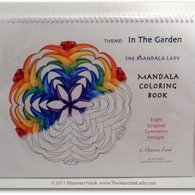 In The Garden Mandala Coloring Book 18 Lady
