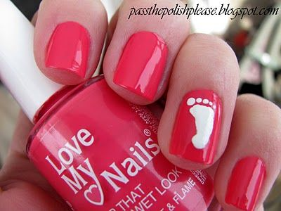 27 Best Baby Shower Nails Images On Pinterest Nail Art Tips Baby Shower Nails And Kid Nails