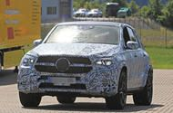 2018 Mercedes-Benz GLE - hot GLE 63 to gain 4.0-litre V8 New spy shots of Mercedes-Benz's upcoming off-roader show it has bigger wheel arches and a more raked rear window  The nextMercedes-Benz GLEhas been spotted in hotAMG GLE 63form where it is expected to use AMG's twin-turbocharged 'hot vee' V8 engine in place of the current car's older 5.5-litre unit.  The more efficient unit is good for 577bhp in other applications like the AMG GT R but the biggest improvements over the 5.5-litre come…