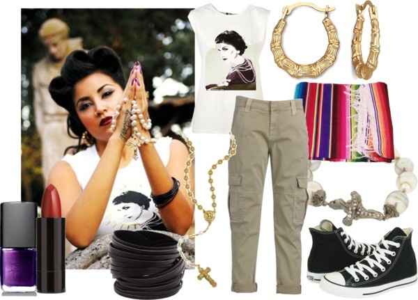"""""""Chola Girl"""" by howdysister ❤ liked on Polyvore"""