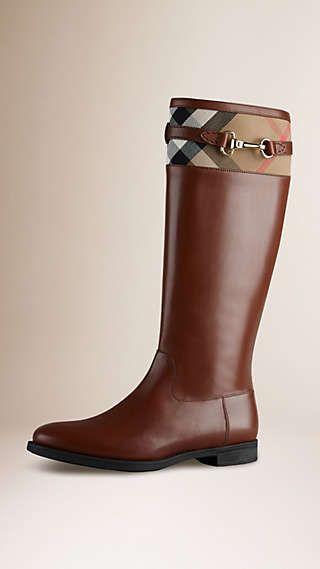 Stivali da equitazione con dettaglio House check