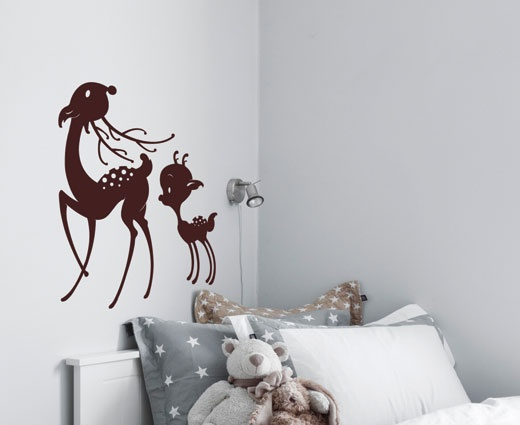 Bambi wallsticker - Skogens søteste dyr.