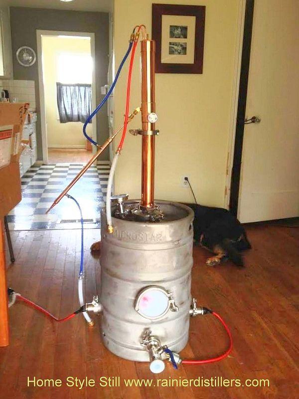 Home still Rainier Distillers Best Copper Moonshine Still for your Alchemy Distilling Education
