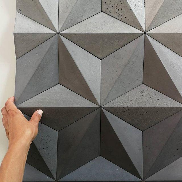 Concrete Geometric Tiles Moduuli Kivi In 2020 Geometric Tiles Geometric Wall 3d Wall Tiles