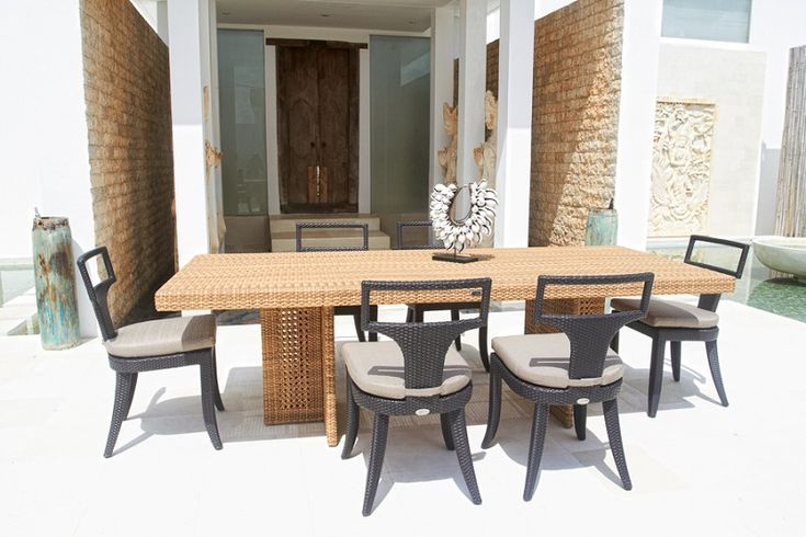 Skyline Design Outdoor Furniture Rectangular Dining Sets ~ http://lanewstalk.com/skyline-outdoor-furniture-changes-boring-moment-to-be-pleasant-moment/