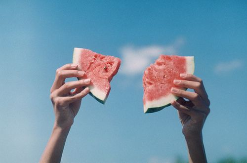 There's nothing more refreshing than eating a watermelon in the summer