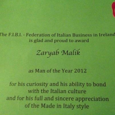 "FIBI Award ""man of the year"" ....the reason why!"