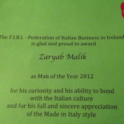 "FIBI Award ""man of the year"" ....the reason why!"