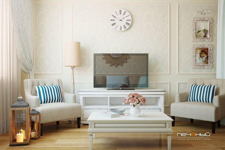 Дизайн уютного интерьера гостиной в двухкомнатной квартире ...