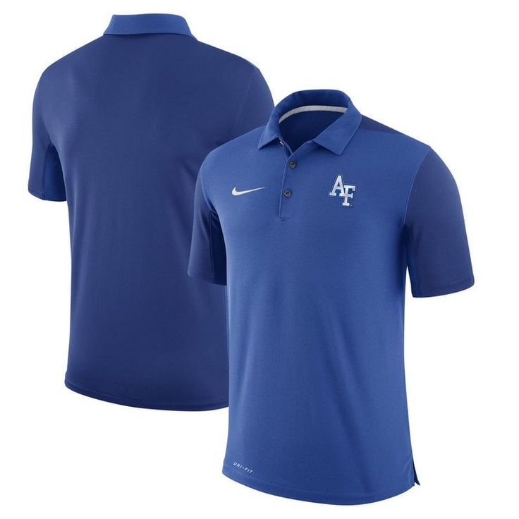 Air Force Falcons Nike Two-Tone 2017 Team Issue Performance Polo - Royal