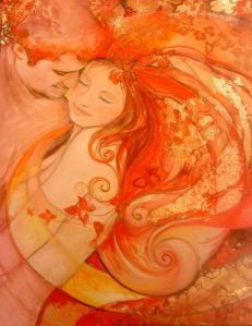"""The flower, the sky, your beloved can only be found in the present moment."" ~Thich Nhat Hanh (Art by Ines Honfi) ..*"