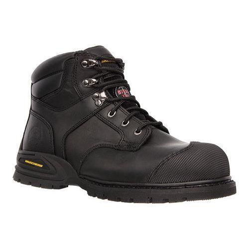 Skechers Men's Boots Work Relaxed Fit Kener Steel Toe