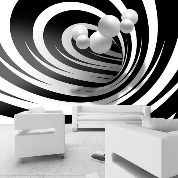 Carta da parati - Twisted In Black & White #cartadaparati3d di qualità in #fliselina tessuto non tesstuto (TNT). #Fotomurale3d resistente e di facile applicazione. A partire da €92.99 cm.300X210 fino a cm 400x280 #cartadaparatimoderna