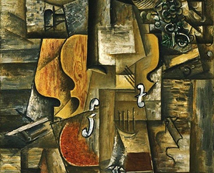Picasso cubism...guitar and violin