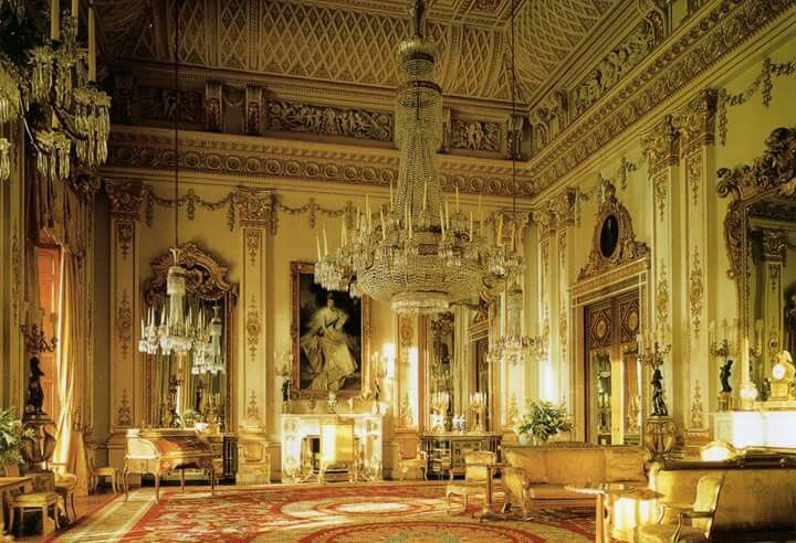 The White Drawing Room of Buckingham Palace