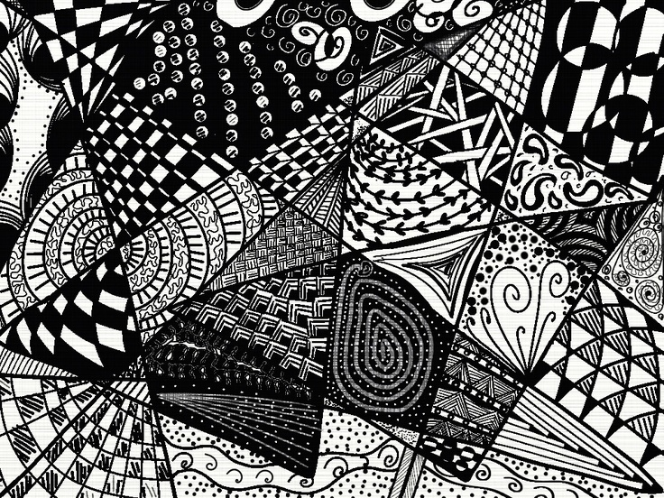 Just trying out various zendoodle patterns learning to for Doodly free