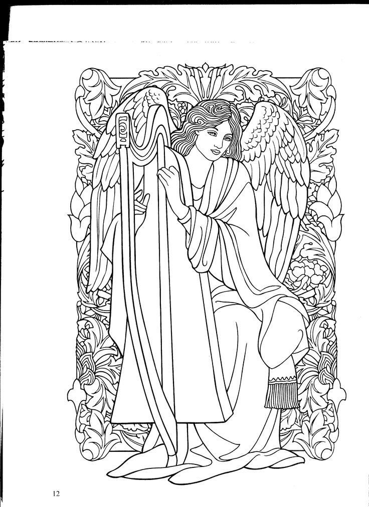 printable detailed angel coloring pages - photo#15