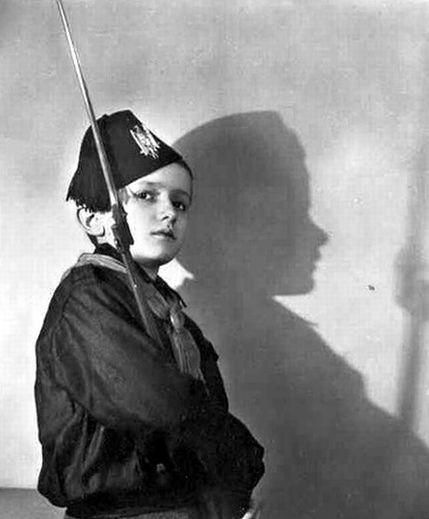 A Balilla Opera Nazionale Balilla member with a rifle. The Balilla was an Italian Fascist youth organization of the 1920s-1940s.   #TuscanyAgriturismoGiratola