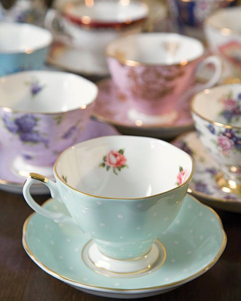 100 years of Royal Doulton Teacups. Got a set of these for a wedding present - one design for each decade 1950-1990.