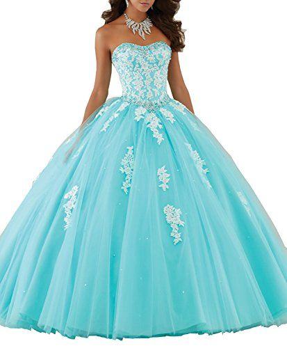 Wallbridal Sweet Beaded Lace applique Puffy Tulle Ball Gown Quinceanera Dress (16, Blue) Wallbridal http://www.amazon.com/dp/B019RILJT6/ref=cm_sw_r_pi_dp_ASJIwb01D21JX