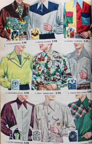 1950s mens western shirts
