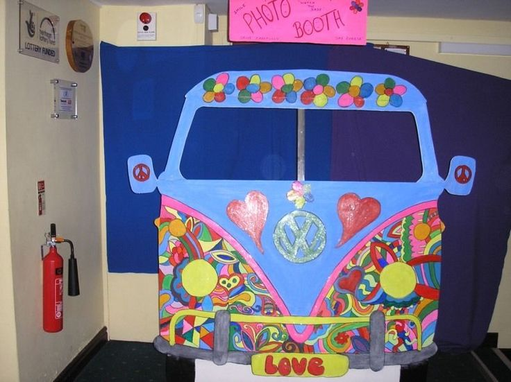 Vw Van Photo Booth Google Search Hippie Party 1970s