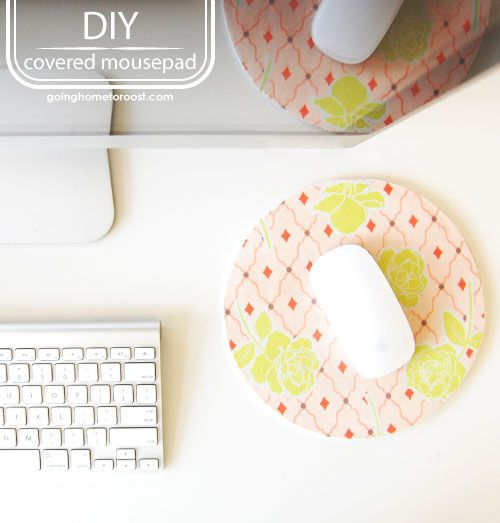 Wow - just a scrap fabric and an old worn out mouse pad. So simple and yet I would've never thought of it!Decor Ideas, Diy Fashion, Gift Ideas, Diy Gift, Fashion Diy, Covers Mousepad, Diy Mousepad, Diy Decor, Diy Covers
