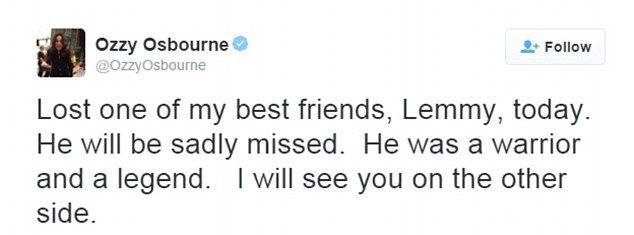 Motorhead rocker Lemmy Kilmister dies of cancer aged 70   Daily Mail Online