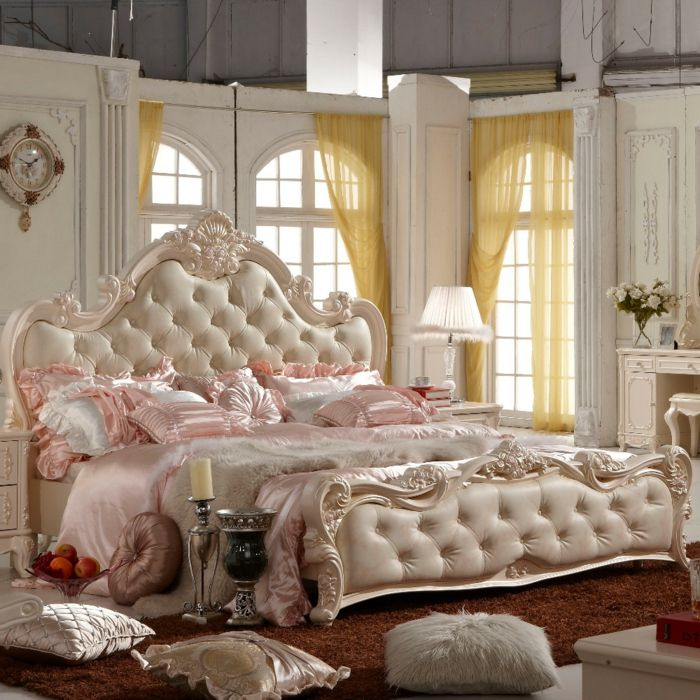 Pin On Chambre à Coucher, White French Bedroom Furniture Sets Uk