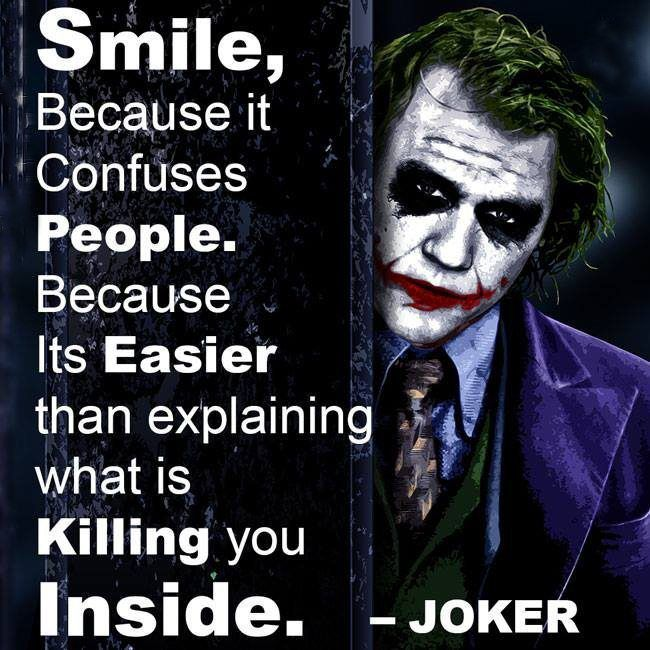 And that's why I always smile...better to fake smiles than to let the tears flow.