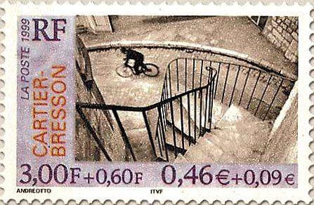 Sello emitido en 1999 por La Poste (la empresa que gestiona el servicio postal. en Francia) con la reproducción de Hyères (1932