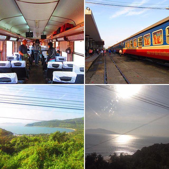 こんばんは! 本日は天気も良く風も弱かったので最高の観光日和でした。 . ダナン⇄フエ間は景色がきれい!とのことでベトナム中部は、列車移動が人気です。 . 山の海沿いを走るのでとてもきれいな景色を楽しむことができます♡ . ダナンから乗る場合、すぐに景色が広がるのでご注意を!私は朝一のに乗ったため寝てしまい、はっ!と起きた時には素敵な景色を半分ほど通り過ぎてしまっていました…。場所によっては崖のようなところもあるので、もっと海が近くに見られます。 . この区間は3.5時間程度なので気軽に乗車できます。弊社では$10/ソフトシート〜販売中です! . 車移動では味わえない景色なので、ベトナムの鉄道にもチャレンジして下さいね! . #hoian #hue #danang #vietnam #trip #travel #asia #discovervietnam #travelgram #traveler #holiday #ベトナム #ホイアン #フエ #ダナン #ベトナム旅行 #ホイアン旅行 #旅 #旅行 #東南アジア #旅ぷら #ホイアンhongさん #ホイアン情報 #海外旅行…