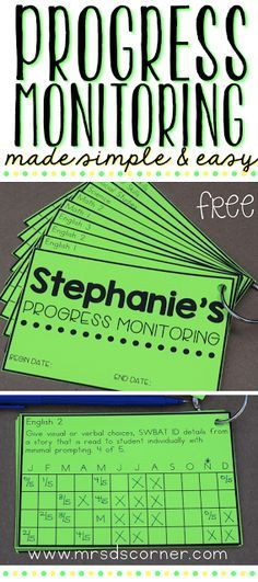 Progress Monitoring Made Quick and Easy - Mrs. D's Corner