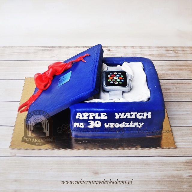 151BA Apple watch - zegarek w pudełku. Apple watch cake.