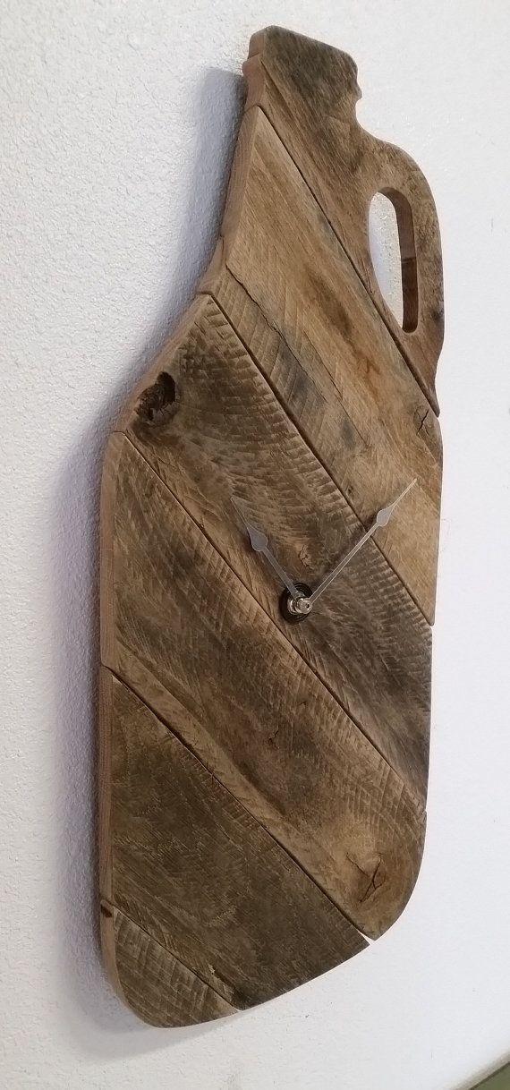 Growler Clock Rustic Clock Pallet Clock Man by stonewoodrustics