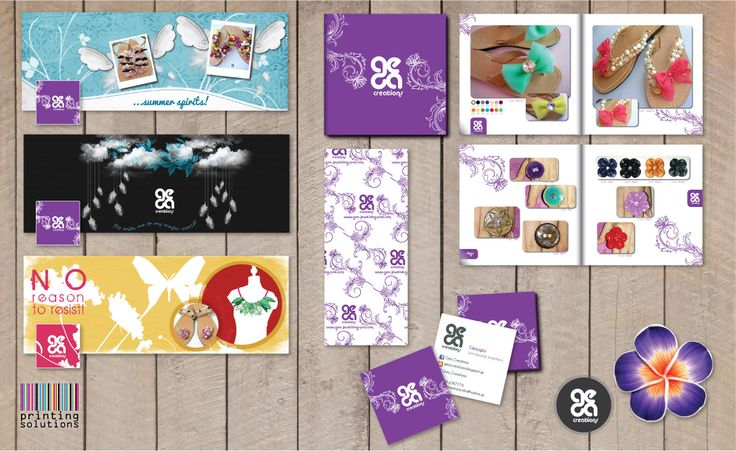 Fresh, Young and Handmade. It's all about Gea Creations! #fresh #handmade #print #design #cards #banner #solutions #jewels #young #printingsolutions #sandals