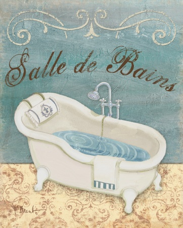 Parisian Bath I by Paul Brent Art Print  20 x 25 cm Price: £4.99  #bath #Brent