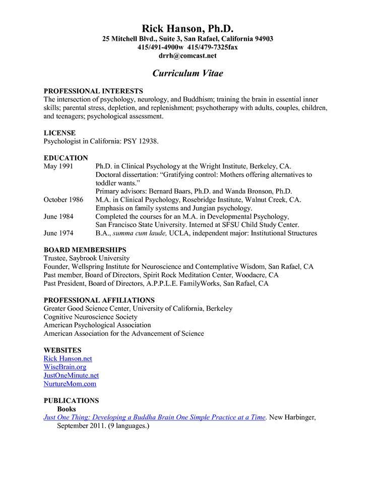 resume block format