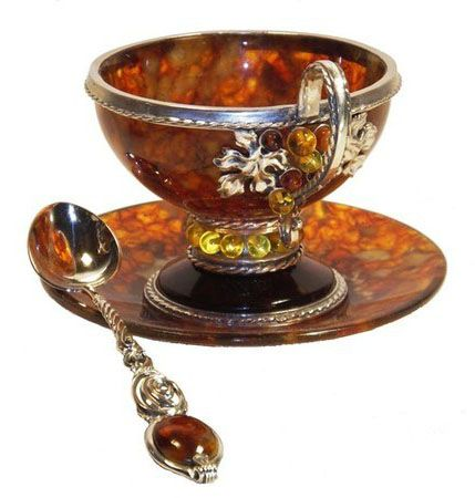 Coffee cups made of natural amber *These are beautiful*
