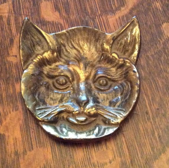 Antique Brass Art Nouveau Figural Ashtray by Queenofhearts4443