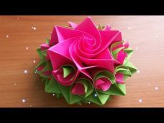 Mestieri handmade DIY.  Come fare Incredibile carta Rose.  Origami fiori per carte