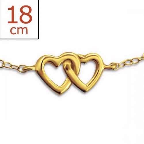 Chain Double Heart Inline-925 (Sterling Silver), Bracelet