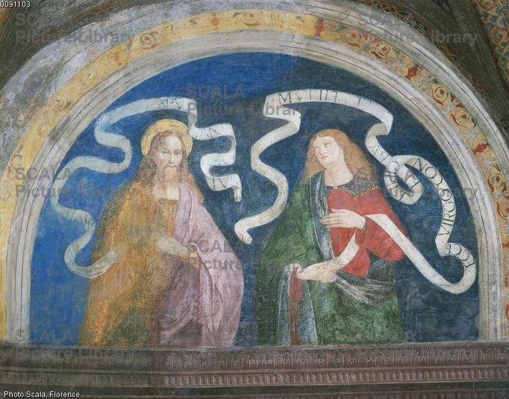 Pier Matteo d'Amelia (c. 1450-1503\8) - Andrew and Isaiah - affresco - 1492-1494 - Sala del Credo - Appartamento Borgia - Palazzo Apostolico della Città del Vaticano - Musei Vaticani