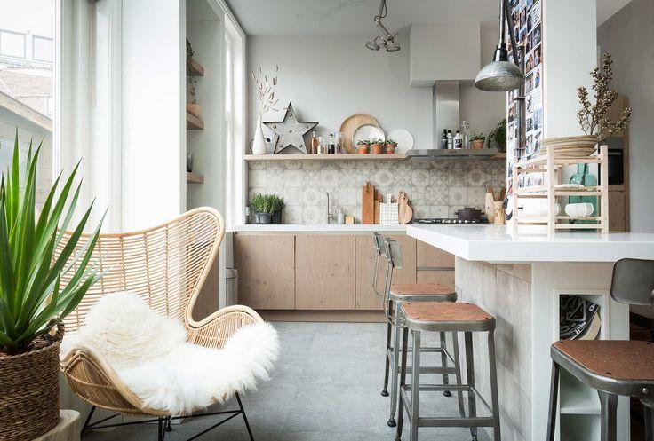 Keuken bij Holger en Rachel uit aflevering 8, seizoen 1 | kijken en kopen | Make-over door: Carlein Kieboom | Fotografie Barbara Kieboom