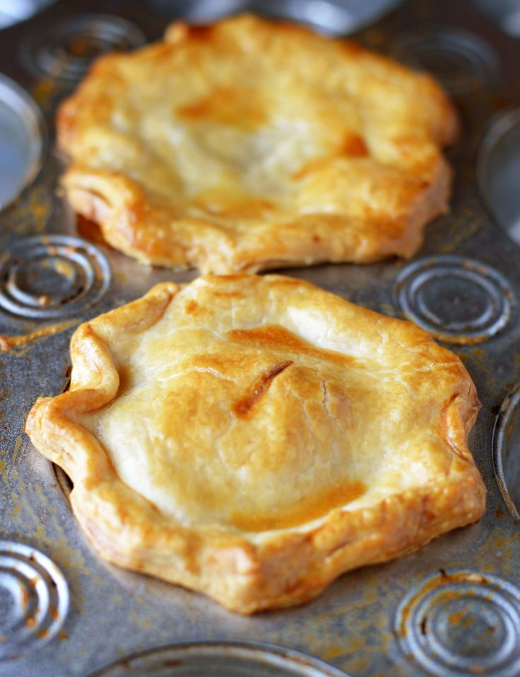 Easy as... Peach Pie! Make mini versions using a muffin pan. Perfectly portioned and portable.