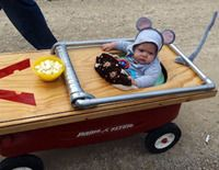 Halloween Costume Idea mouse trap child kid wagon