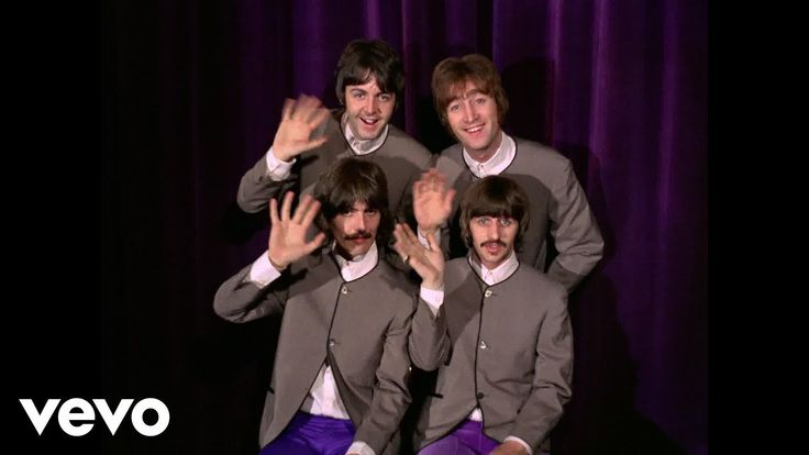 The Beatles - Hello, Goodbye~~ I love the vibrant colors of their costumes.